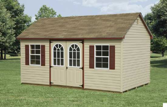 Vinyl A Frame Custom Shed sold in Pine Hill, NJ