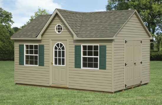 12' x 16' Vinyl A-Frame Dormer Shed Sold in Lawnside,NJ
