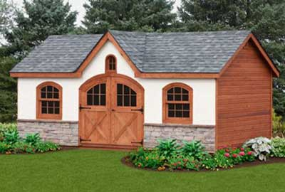 A Frame Dormer Door Shed