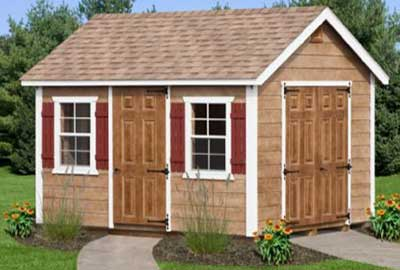 A Frame Custom Shed With Extra Doors