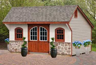 12' x 16' Carriage Saltbox Deluxe Shed burlington county nj