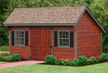 10' x 16' Quaker Saltbox Deluxe Shed camden county nj