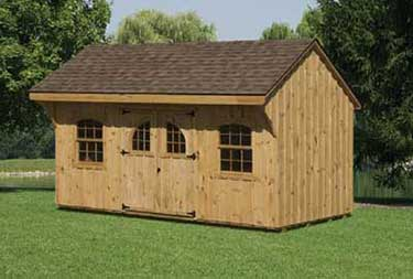 10' x 16' Pine Board and Batten Quaker Shed in ocean county NJ